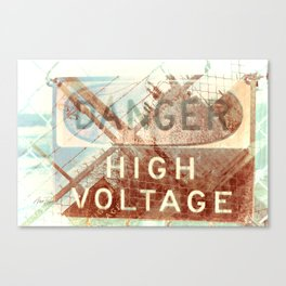 High Voltage - photography Canvas Print