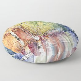 4 Season watercolor collection - summer Floor Pillow