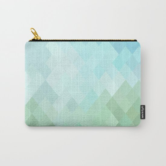 Shades of  Blue Diamonds Abstract Carry-All Pouch