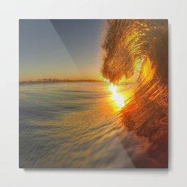 Chris Harsh Photos * Golden Wave At Dawn Metal Print