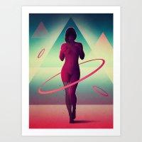 Átomos Art Print
