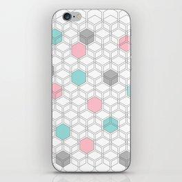 Hexagon nordic pattern iPhone Skin