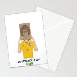 The End of the world cup 2014 Stationery Cards