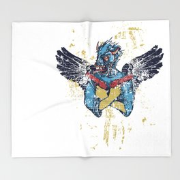 Fallen Hero Eagle Throw Blanket