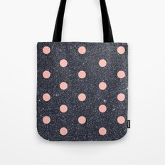 Black Glitter and Pink Polka Dots Tote Bag