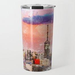 Sao Paulo - WaterColor 003 Travel Mug