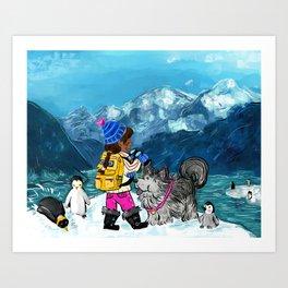 Winter Adventurer Art Print
