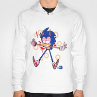 sonic Hoodies featuring sonic by Kai L.