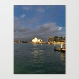 Sydney Opera House And Harbour Canvas Print