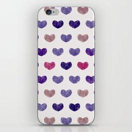 Cute Hearts VIII iPhone Skin