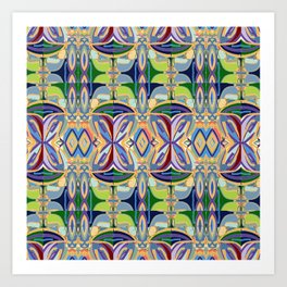 Butterfly mosaic - brightly colored pattern Art Print