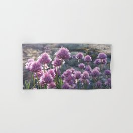 Wild chives flowering Hand & Bath Towel