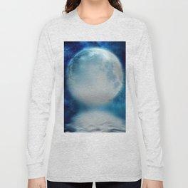 the moon Long Sleeve T-shirt