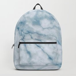 Light blue marble texture Backpack