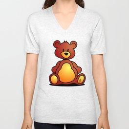Cuddly Teddy Bear Unisex V-Neck