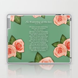No Waivering of His love By Feon Davis Laptop & iPad Skin