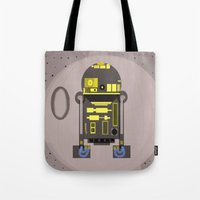 r2d2 Tote Bags featuring R2D2 by Meg Elly Gerena