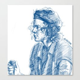 harry in blue Canvas Print