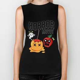 love apple Paradies Horror Movie Halloween Fruit Gift Present Scarry Chocolate Biker Tank