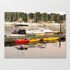 Boats and Kayaks Canvas Print