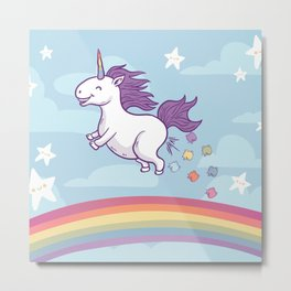 Unicorn - Too Much Corn! Metal Print
