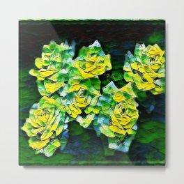 Floral Embosses: Roses 04-02 Metal Print