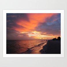 Sensational Sanibel Sunset Art Print