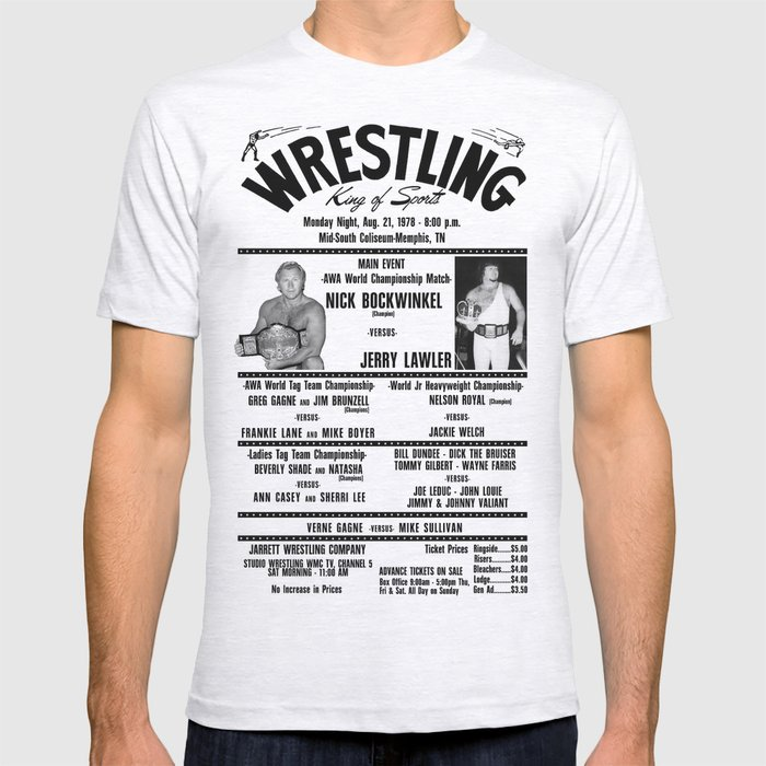 #3 Memphis Wrestling Window Card T-shirt