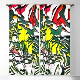 Abstract Colorful Ink Blackout Curtain
