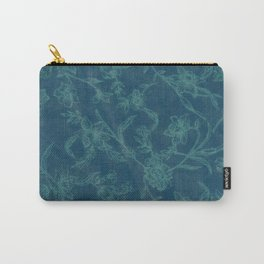 Flower Pattern (Green version) Carry-All Pouch