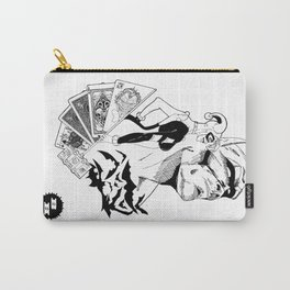 Deadly Hand - Bat man, Harley Quinn and Joker (black and white) Carry-All Pouch