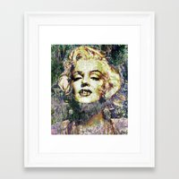 marilyn Framed Art Prints featuring MARILYN by Vonis