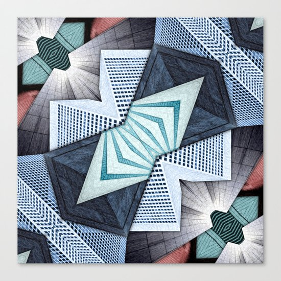 Abstract Structural Collage Canvas Print
