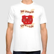 View Master Makes Pictures Come To Life MEDIUM Mens Fitted Tee White