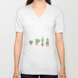 four cactus Unisex V-Neck