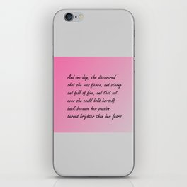 And one day, iPhone Skin