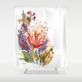 Jeweltone Buds Shower Curtain