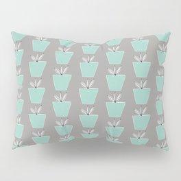 Potted Plants | Aqua & Gray Pillow Sham