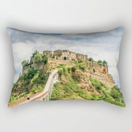 Village in the clouds Rectangular Pillow