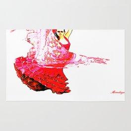 Bailarina Española ( Spanish Dancer ) Rug