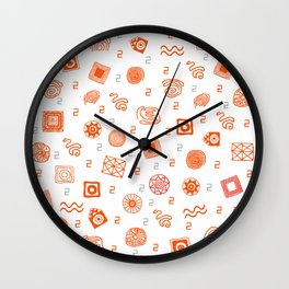 Ethnic Mosaic Wall Clock