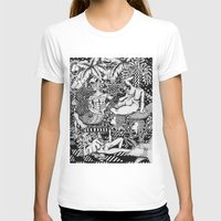 bisexual T-shirts featuring Psychedelic Visions of the Bisexual Shaman Chicks by cahill wessel