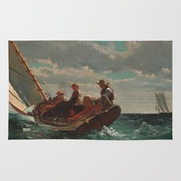 Winslow Homer - Breezing Up (A Fair Wind) Rug