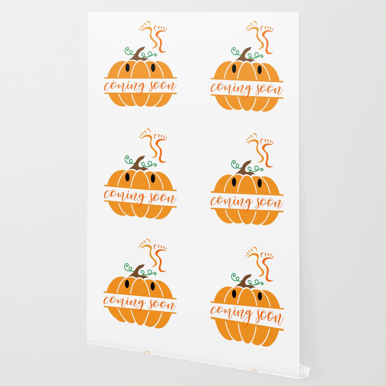 Coming Soon Mommy S Little Pumpkin Cute Pregnancy Design Wallpaper By Peppersalt Society6