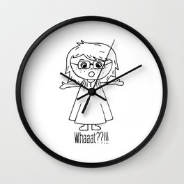 Surprised Harper Wall Clock