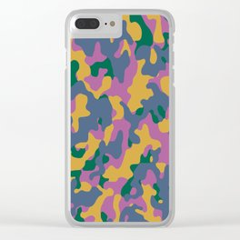 Camouflage #2 Autumn Color - Living Hell Clear iPhone Case