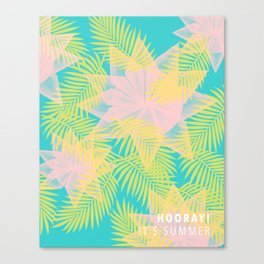 Summer is here with title Canvas Print