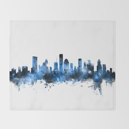 Houston Texas Skyline Throw Blanket