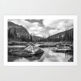 Consolation Lakes, Canada Art Print