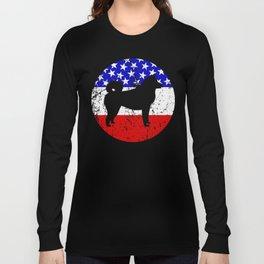 American Flag Akita Long Sleeve T-shirt